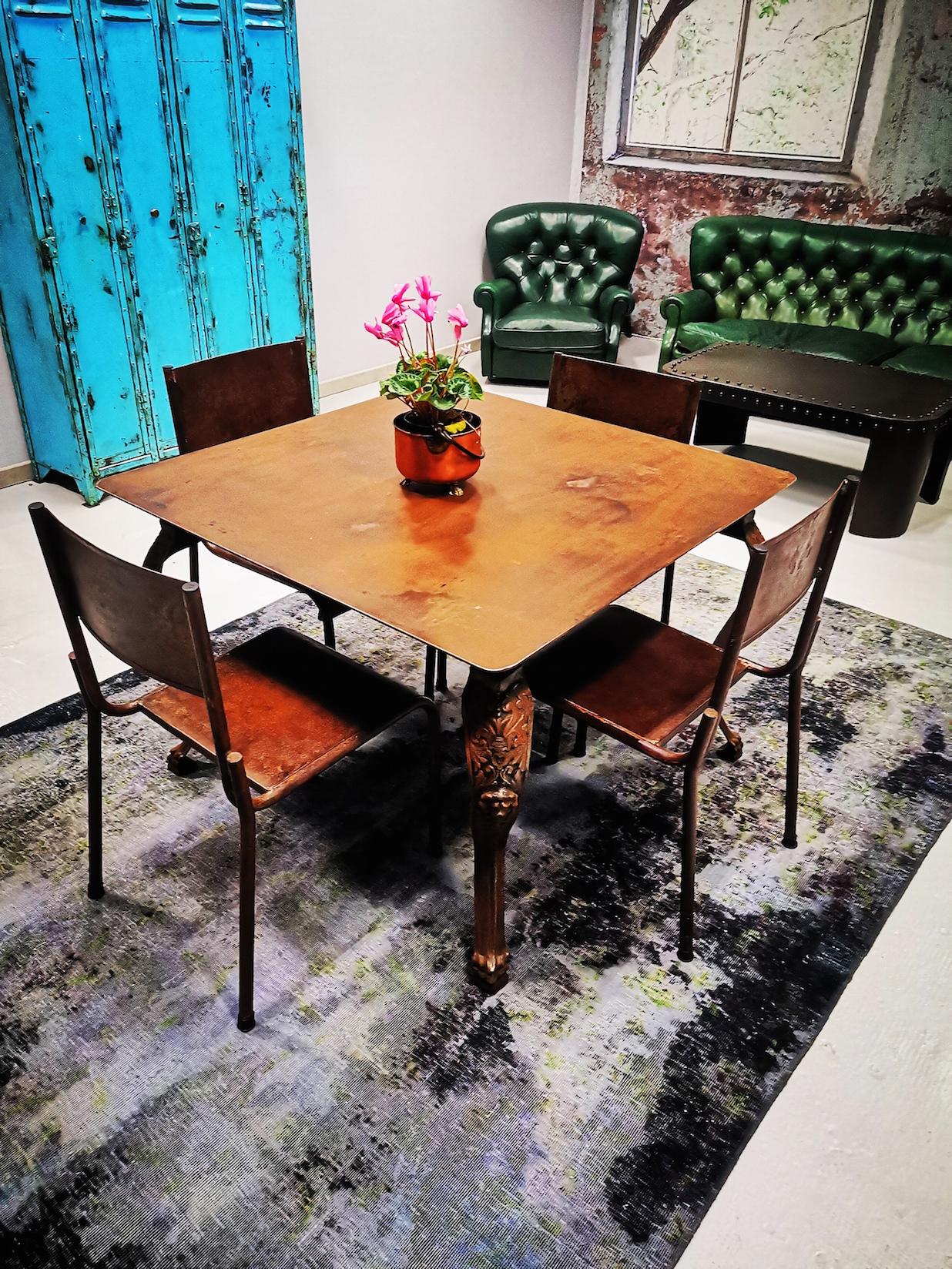 Tavolo ferro e ghisa